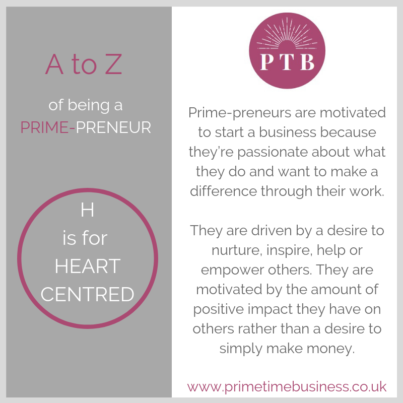 H is for Heart-Centred